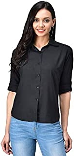 FUNDAY FASHION Solid Casual Full Sleeve Rayon Women's Shirt