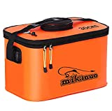 Fishing Bucket,Foldable Fish Bucket, Multi-Functional EVA Fishing Bag for Outdoor, Live Fish Lures Bucket and Fish Protection Bucket,10GAL/8GAL/6GAL/4.8GAL/3GAL Live Fish Container