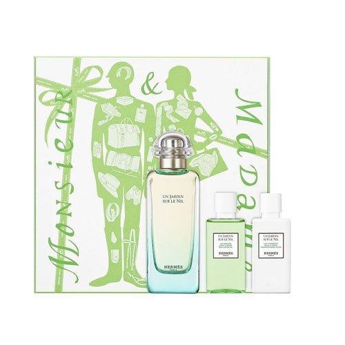 Hermès Un Jardin sur le Nil Geschenkset (EdT Spray 100ml, Bodylotion 40ml + Duschgel 40ml)