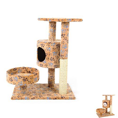 AIOEJP Árbol de Gatos, árbol para Gatos, Rascador de Gatos Plataforma acogedora para condominios y Postes de sisal para rascar Totalmente envueltos Árbol de Actividad para Gatos separabl