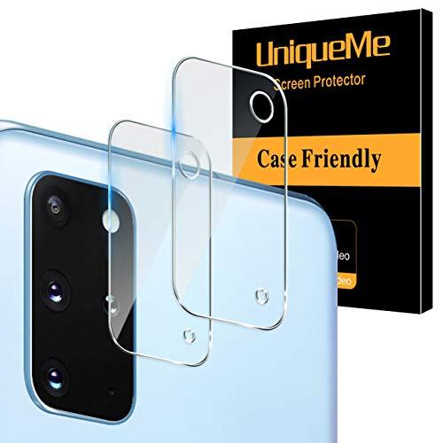 UniqueMe [2 Pack] Protector de Lente de cámara para Samsung Galaxy S20 Plus cámara, Protector de Pantalla [9H Dureza ] [Sin Burbujas] Cristal HD Vidrio Templado para Samsung Galaxy S20 Plus