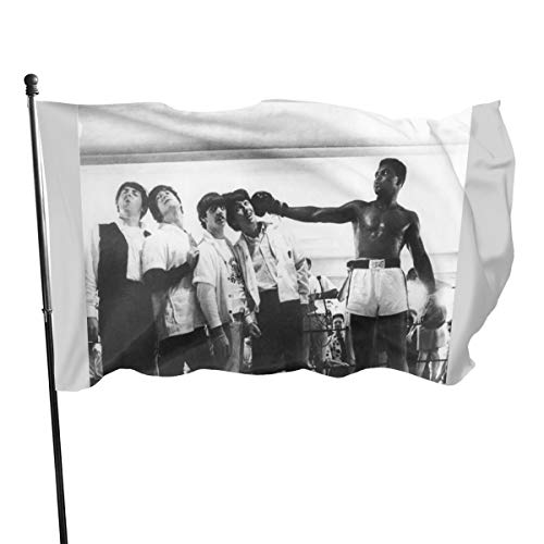 N/ The Beatles and Muhammad Ali in 1964, Kunstdruck, Flagge Banner, 91 x 152 cm