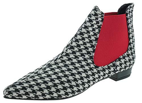 Heine 131051 Ankle Boots schwarz weiß, Groesse:43.0