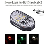 Novania 3 Mode Lighting RGB Flash LED Light Compatible With DJI Mavic Air 2/Mini/Pro/Zoom/Air/Spark, Anti-Collision Rechargeable Drone Night Locator Navigation Strobe Lighting Location Indicator Light