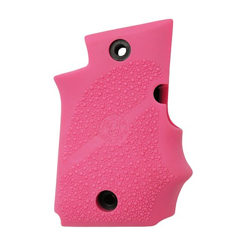 Hogue 98087 Sig P938 Rubber Grip, Ambidextrous, W/Finger Grooves Pink