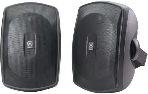 Yamaha NS AW390BL 2 Way Indoor/Outdoor Speakers (Pair, Black)...