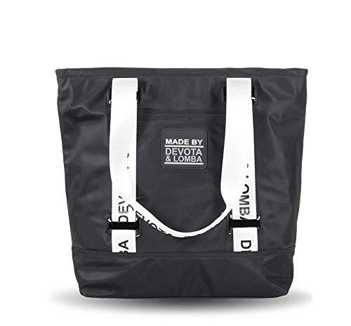 Devota & Lomba Bolso Shopping Rubber Negro