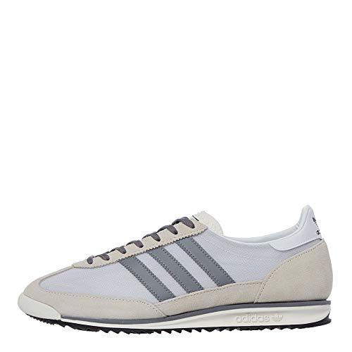 adidas SL 72 FV9785 - Zapatillas de piel retro para hombre, color blanco y gris, color Blanco, talla 47 1/3 EU