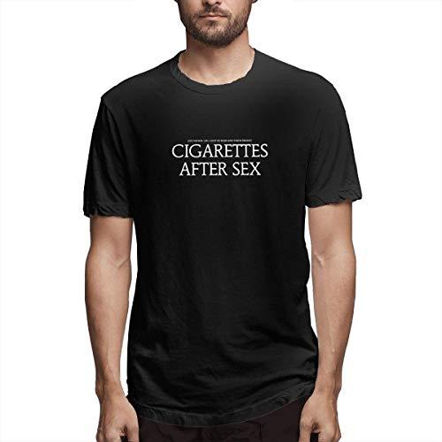 ALIYOUKNOW Uomo/Men's Cigarettes After Sex 1 Classic T-Shirts for Men T-Shirt Uomo Maglietta Black with Short Sleeve Manica Corta da Uomo