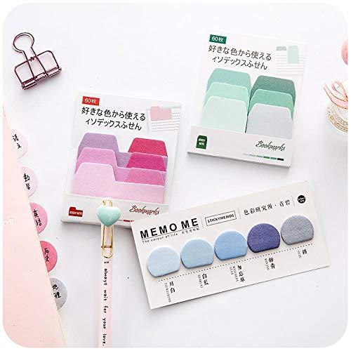 60 hojas/lote acuarela gradiente japonés nota adhesiva bloc de notas planificador de oficina adhesivo papel papelería, 2...