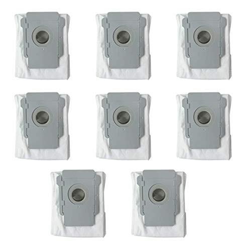Nordun Paquete de 8 Bolsas de VacíO,Bolsas Eliminación automática de suciedad Repuesto para iRobot Roomba i7 (7150), i7 + / Plus (7550), s9 + (9550) E5 E6 S9 S9+/S9 Plus Series Aspiradora Robot