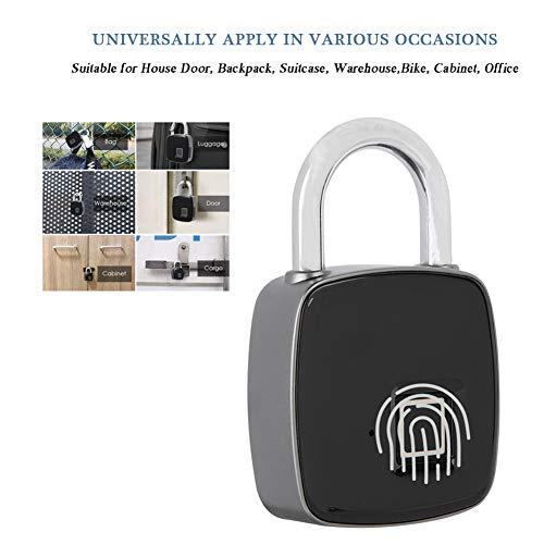 Fingerprint Padlock Smart Keyless Waterproof Security Anti-Theft Padlock for Outdoor Gym, Suitcase,Bike