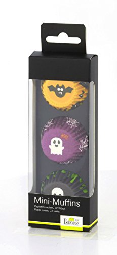 knusper.haus Mini - Muffins Papierförmchen Halloween (72 Stück / 2 x 4,5 cm) FETTDICHT