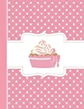 Pink Polka Dot Cupcake Composition Book: Wide Ruled, 202 Lined Pages, (7.44 x 9.69)