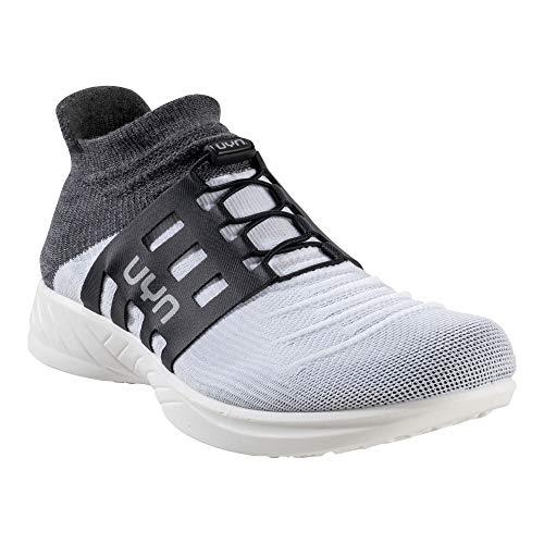 UYN Lady X-Cross Tune Shoes, Zapatillas de Running Mujer, White/Grey, 39 EU