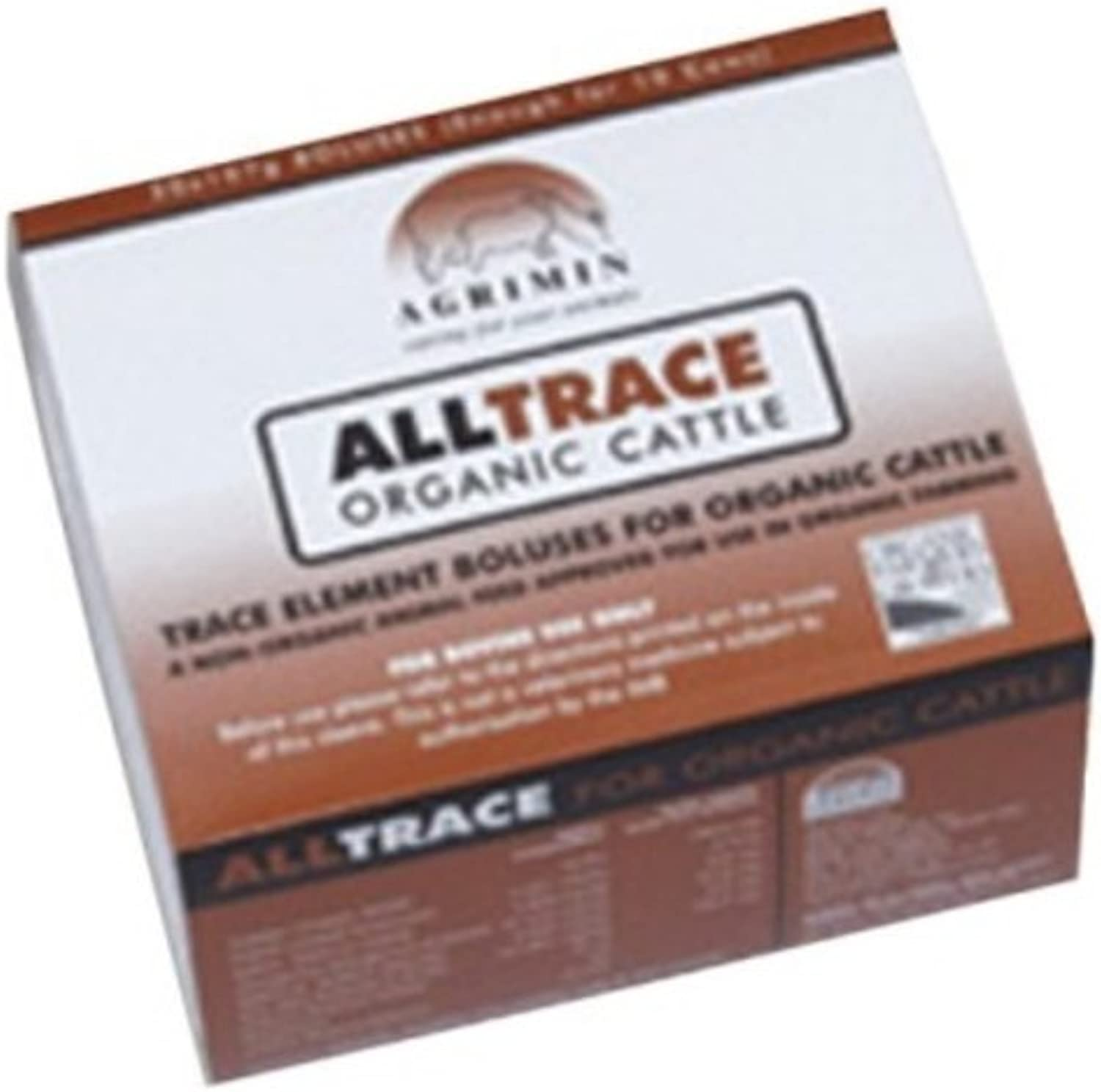 Agrimin  AllTrace Elements Organic Bolus for Cattle x Size  20 Pack