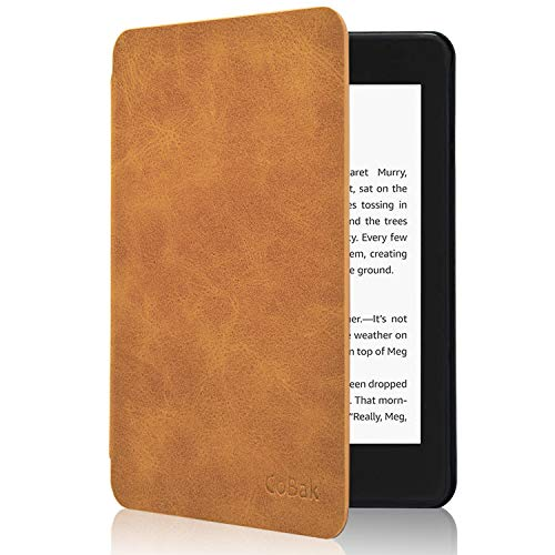 CoBak Kindle Paperwhite Case - All New PU Leather Smart Cover with Auto Sleep Wake Feature for Kindle Paperwhite 10th Generation 2018 Released, Brown