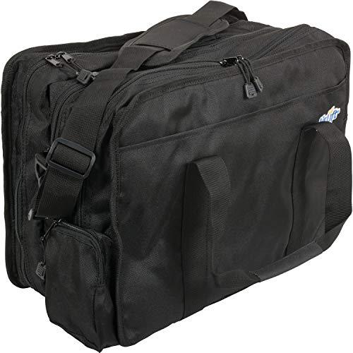 "Roscoe Home Health Medical Bag for Emergency Supplies - Nursing Bag and EMS Bag for Home Health Professionals and First Responder EMT, Black, 11.5""x16""x7.5"""