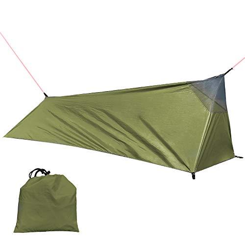 Lixada Tienda de Campaña para Mochileros Tienda de Saco de Dormir para Acampar Al Aire Libre Tienda de Campaña Ligera para una Persona con Mosquitera