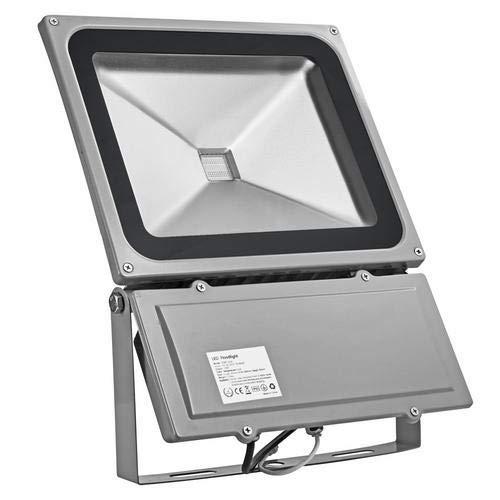 RGB Projecteur LED Extérieur, 100W de l'Eclairage Spot, Etanche IP65 avec télécommande, Eclairage Extérieur Pour Cour, Jardin, Maison, Terrasse, Chambre, Entrée, etc