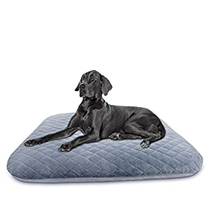 Hero Dog Large Dog Bed Orthopedic Pet Beds with Removable Cover 40/46in Soft Crate Pad Mat Washable Anti Slip Dog Sleeping Mattress for Jumbo Medium Small Pets, Multi Color