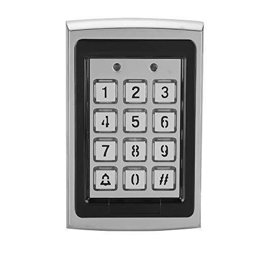 Metalltür Zutrittskontrolltastatur, Code RFID-Tastatur IP68 Wasserdichtes Zutrittskontrollsystem mit Hintergrundbeleuchtung 1000 Benutzer-Tastatur Garagentor-Tastatur-Leser