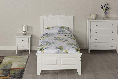 Mission TM 3FT Single Parma Bed Frame in White (Single Bed Frame and Flex 1000 Mattress)