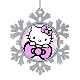 OPKSHNT Hello Kitty Cute Ornament Christmas Tree Decoration for Family Home Shopping Mall Club Hanging Tree Snowflake Ornament 1 PCS