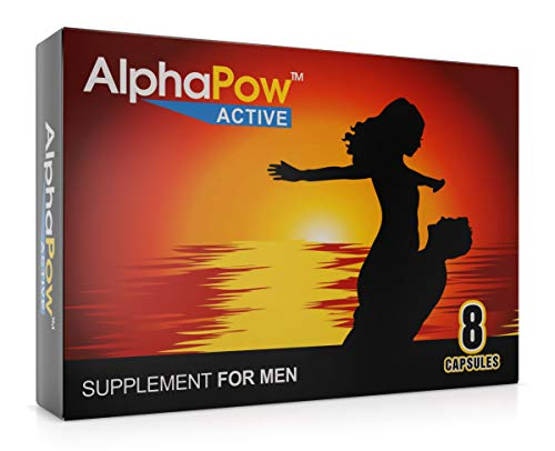 AlphaPow Strong Supplement for Men Fast Long Lasting Support Effect Natural Extract via Herbal Route Active Energy Formula Capsules