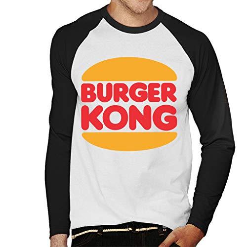 Men's Burger Kong Funny Baseball Shirt, S to XXL