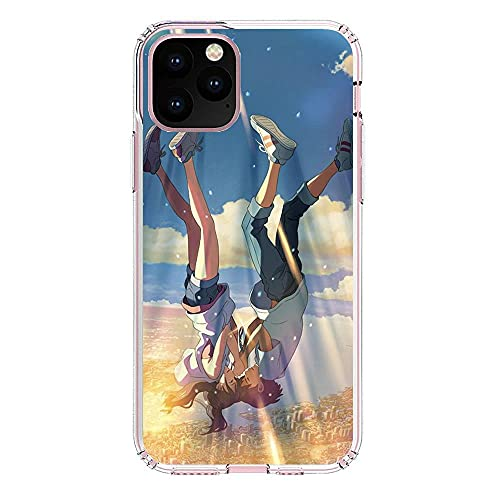 K-Kickim Coque Silikon Rubber Clear Phone Case for Apple iPhone 11 Pro MAX-Your Name-Comet Sky 0