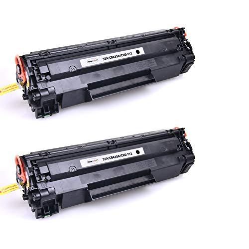 Acceprint 35A/CB435A CRG712 Jumbo XL Paquete de 2 Cartuchos de tóner Negro Alto Rendimiento para HP Laserjet P1005 P1006 Canon LBP-3010 3100 LBP-3050 3150 3018 3108 LBP-3010 LBP-3100 LBP-3010 LBP3018