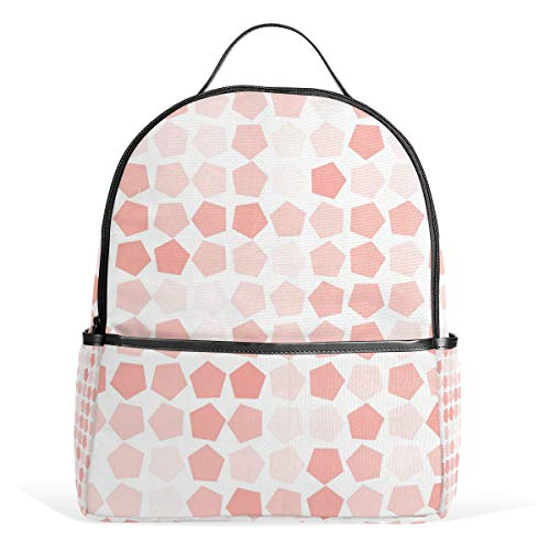 Backpack Abstract Geometric Pentagon Schoolbag 1-3th Grade for Boys Teen Girls Kids