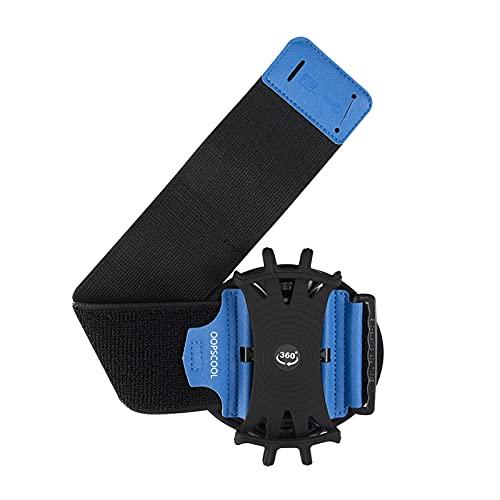 TISHITA Pulsera con Soporte para teléfono Celular para Galaxy S10 / S10 + / S10e / S9 / S9 + / S8 Note 9/8 / J7, Brazalete Giratorio 360 para teléfono móvil - Azul