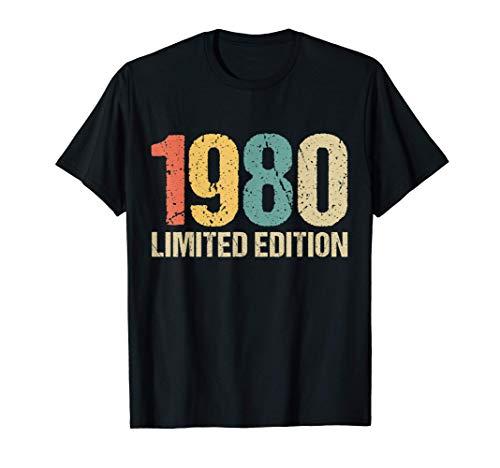 40 Años Cumpleaños Hombre Mujer Regalo Divertido 1980 Camiseta