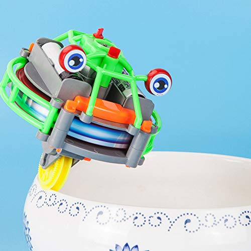 helegeSONG Wirewalking Robot Electric Unicycle Toy for Kids Mini Toy Wheelbarrow for Boys and Girls...