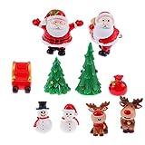 NUOBESTY 10 stücke Weihnachten Miniatur Ornament Harz Figur fee Garten puppenhaus Dekoration für...