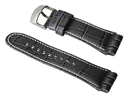 Swatch ricambio Bracciale in pelle 'Mr Grey' AYOS424.