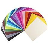 Ideen mit Herz Deko-Karton Anna, Leinen-Optik, DIN A4, 100 Bogen | 20 Farben | Bastelpapier,...
