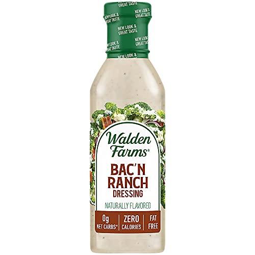 Walden Farms Bacon Ranch Dressing, Sugar Free, Calorie Free, Fat Free, Carb Free, Gluten Free, 12 oz