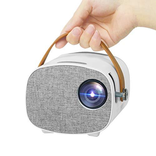 Mini proiettore,proiettore portatile Lejiada,piccolo proiettore cinematografico per bambini/camera da letto,proiettore home theater compatibile con iPhone/TV Stick/HDMI/USB/SD/AV/laptop