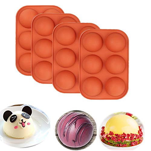 4Pcs Sphere Silicone Mold