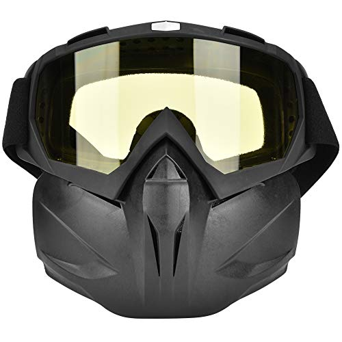 Gafas De Casco De Motocicleta Antiniebla A Prueba De Viento Al Aire Libre Máscara Facial Gafas De Carreras Lente Amarilla