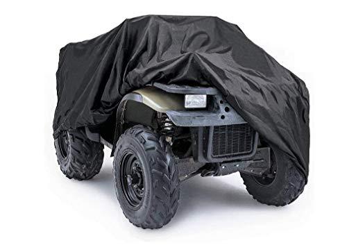 Cubierta para ATV UCARE impermeable Quad ATV 4 ruedas cubierta para todo tipo de clima, protección UV al aire libre, cubierta de vehículo todoterreno negro (XXXL 100 x 43 x 47 pulgadas)