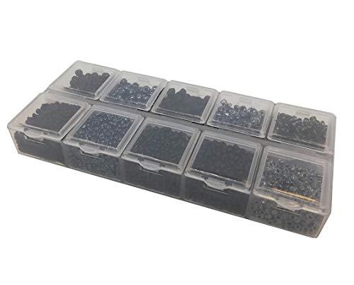 Rocailles - Juego Perlas Negras 2 mm, 3