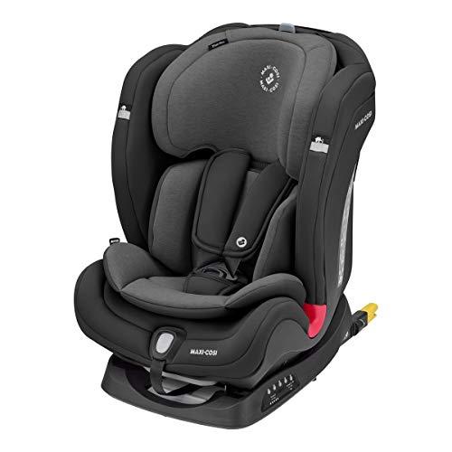 Maxi-Cosi Titan Plus, mitwachsender Kindersitz mit ISOFIX, ClimaFlow Funktion und Liegeposition, Gruppe 1/2/3 Autositz (9-36 kg) nutzbar ab ca. 9 Monate bis 12 Jahre, authentic black