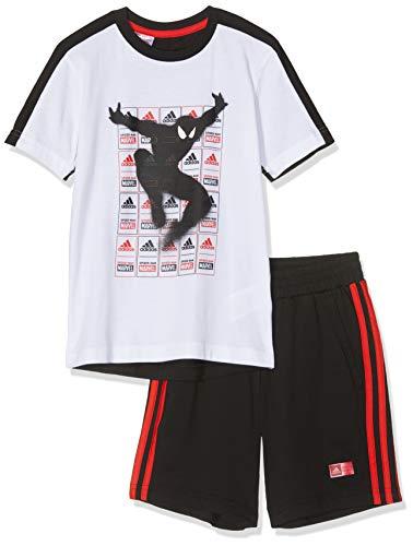 adidas Spiderman Summer Set Jogger, Bebé-Niños, Multicolor (White/Black/Active Red), S
