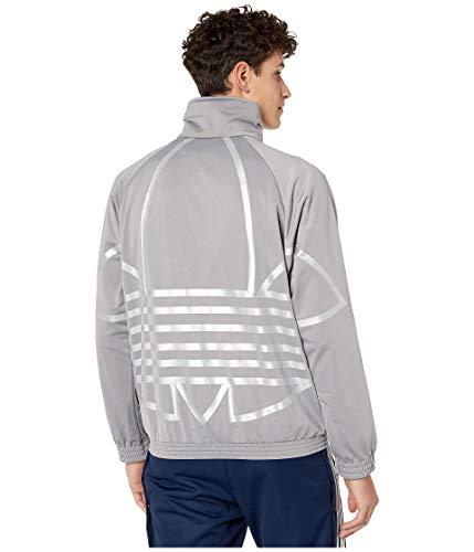 adidas Originals Men's Big Trefoil Track Top, Solid Grey/Silver Metallic, M