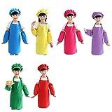 Fltaheroo Juego de 12 delantales para niños y niñas, de algodón ajustable, delantal de cocina