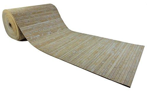 CASA TESSILE Tappeto stuoia Bamboo Washed su Misura - Beige